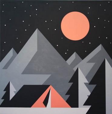 """Noche fría. De la Serie """"País de nieve"""""""